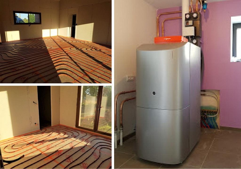 Installation chaudière fioul à condensation Viessmann et pose de plancher chauffant