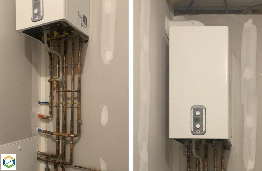 Installation d'une chaudière gaz CHAFFOTEAUX MIRA C GREEN Condensation dans une maison neuve