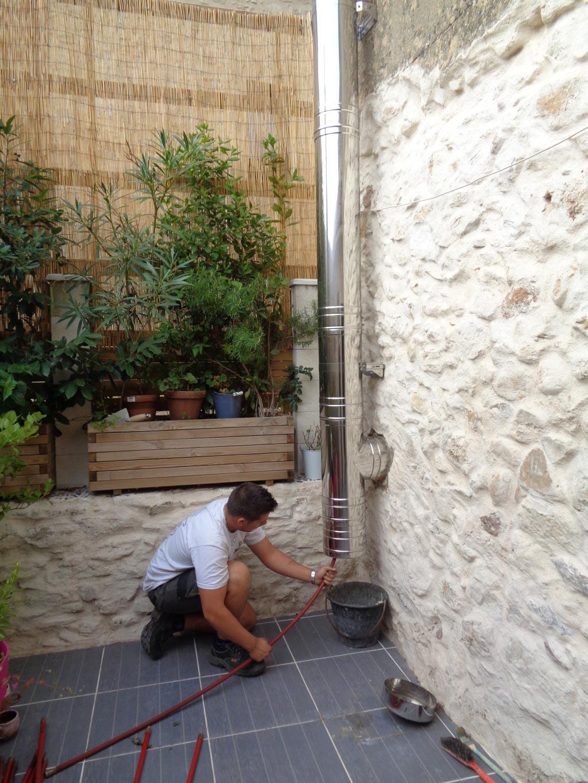 Ramonage 30 Gard 84 Vaucluse - Ramonage poêle bois et conduit inox à Tresque