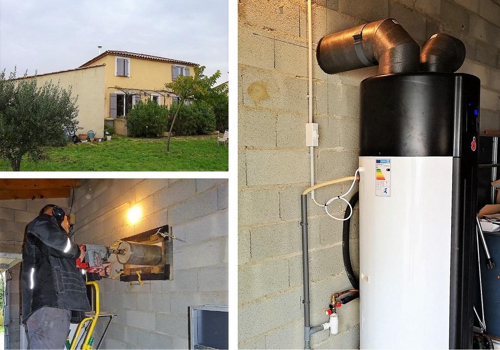 Installateur  Qualipac RGE  - Chauffe-eau thermodynamique inox