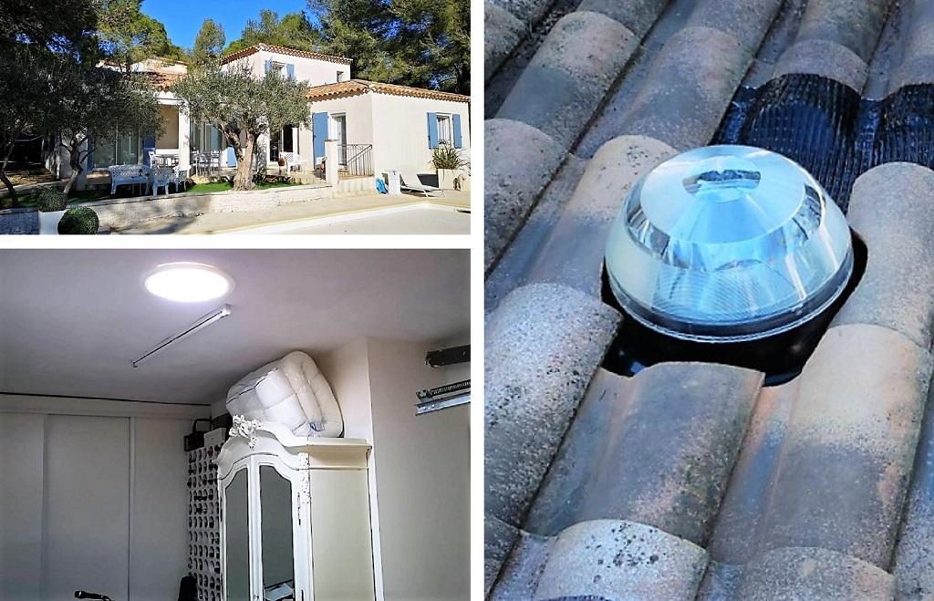 Pose puits de lumière naturelle. Le plus lumineux des puits de lumière 30 gard-84 Vaucluse-13 Bouches du Rhône