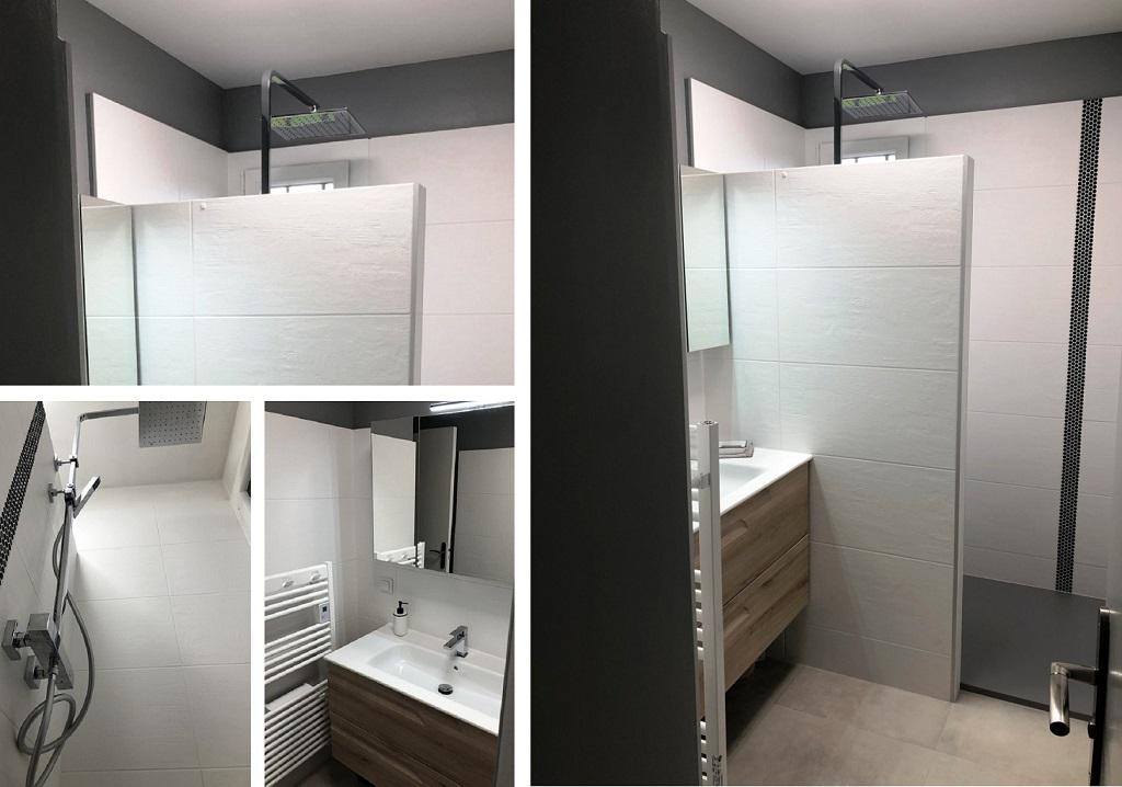 Rénovation salle de bains avec douche à l'italienne
