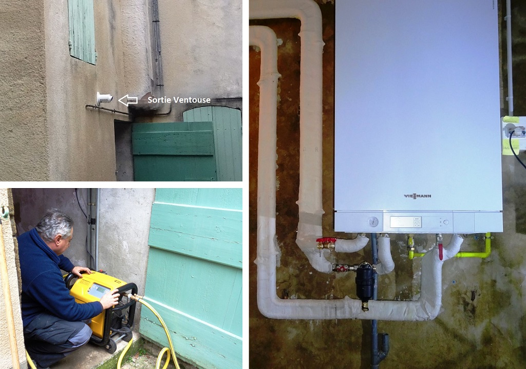 Chaudière gaz  à condensation Viessmann  - Installateur RGE  PG et Proactif Viessmann Gard Vaucluse