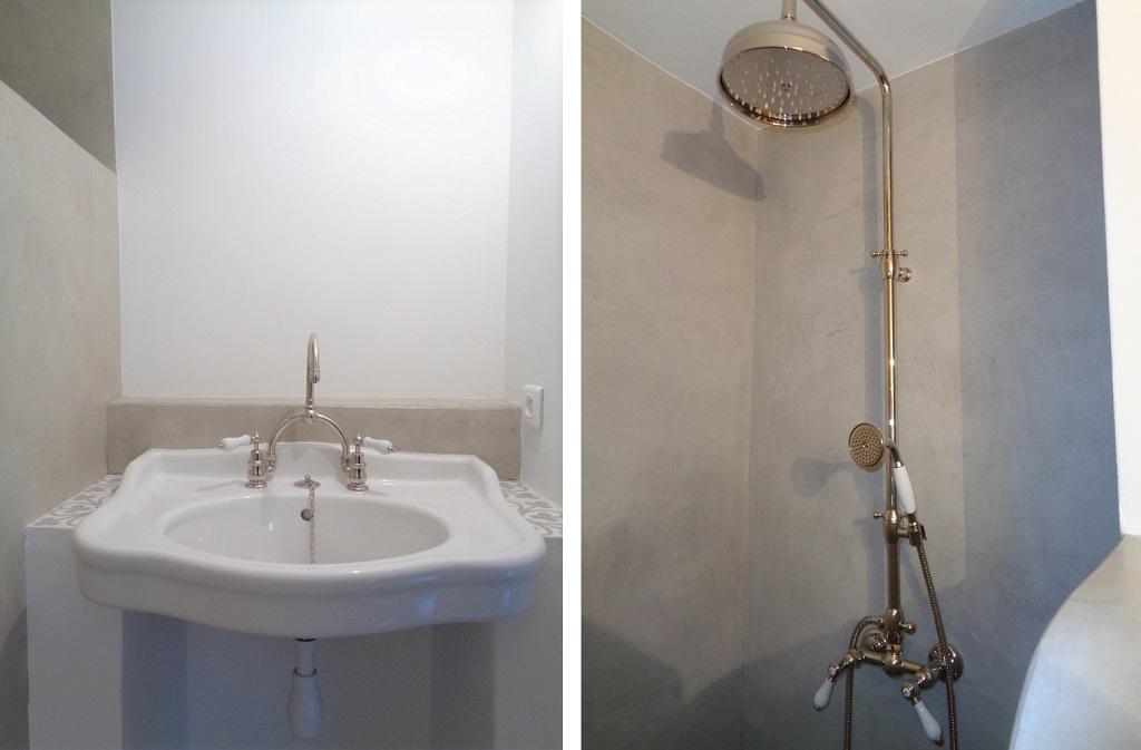Création salle de bain rétro