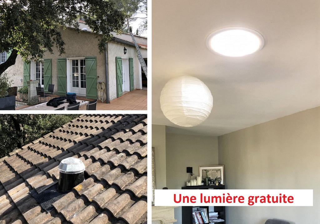 Le plus lumineux des puits  ou conduit de lumière 30 Gard - 84 Vaucluse  - 13 Bouches du Rhône