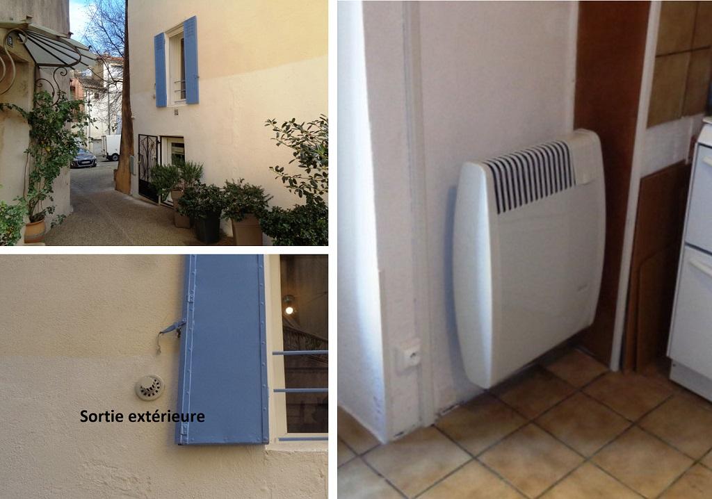Installation radiateur gaz Auer