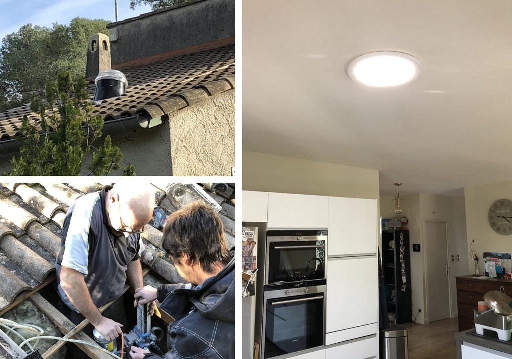 Conduit de lumière  Solatube,  le plus lumineux des puits de lumière 30 Gard 84 Vaucluse & 13 Bouches