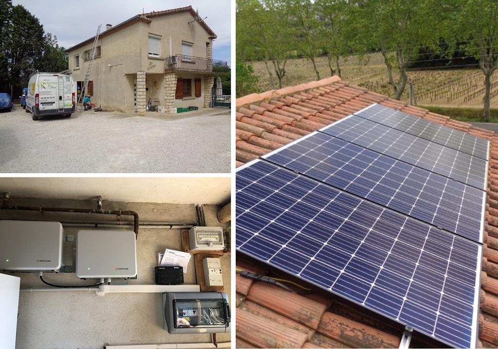 Installation batteries Enphase pour photovoltaïque en autoconsommation 30 Gard et 84 Vaucluse