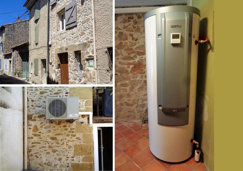 Chauffe-eau thermodynamique installé par professionnel RGE Qualipac 30 Gard et 84 Vaucluse