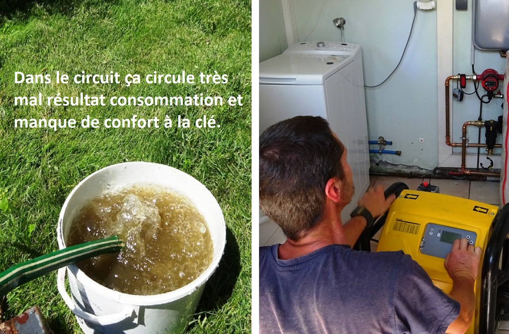Désembouage installation de chauffage 30 Gard et 84 Vaucluse