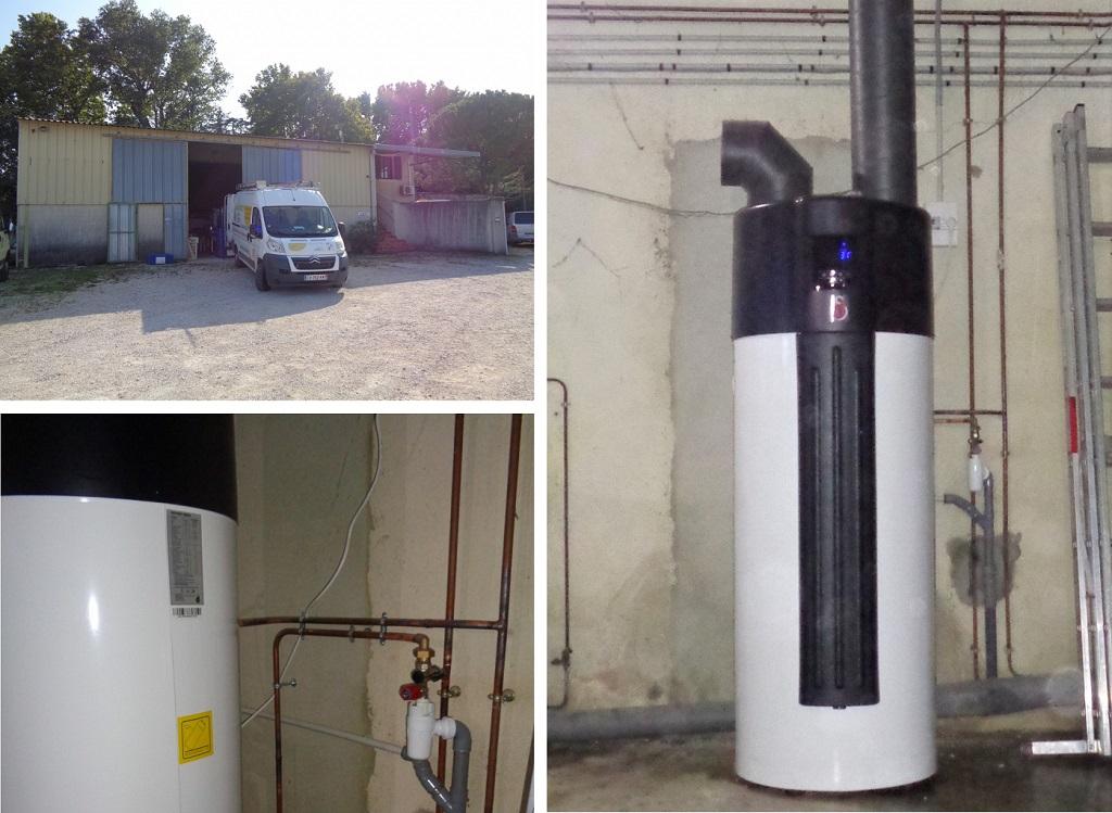 Installateur Qualipac RGE en chauffe-eau thermodynamique inox sur air ambiant.