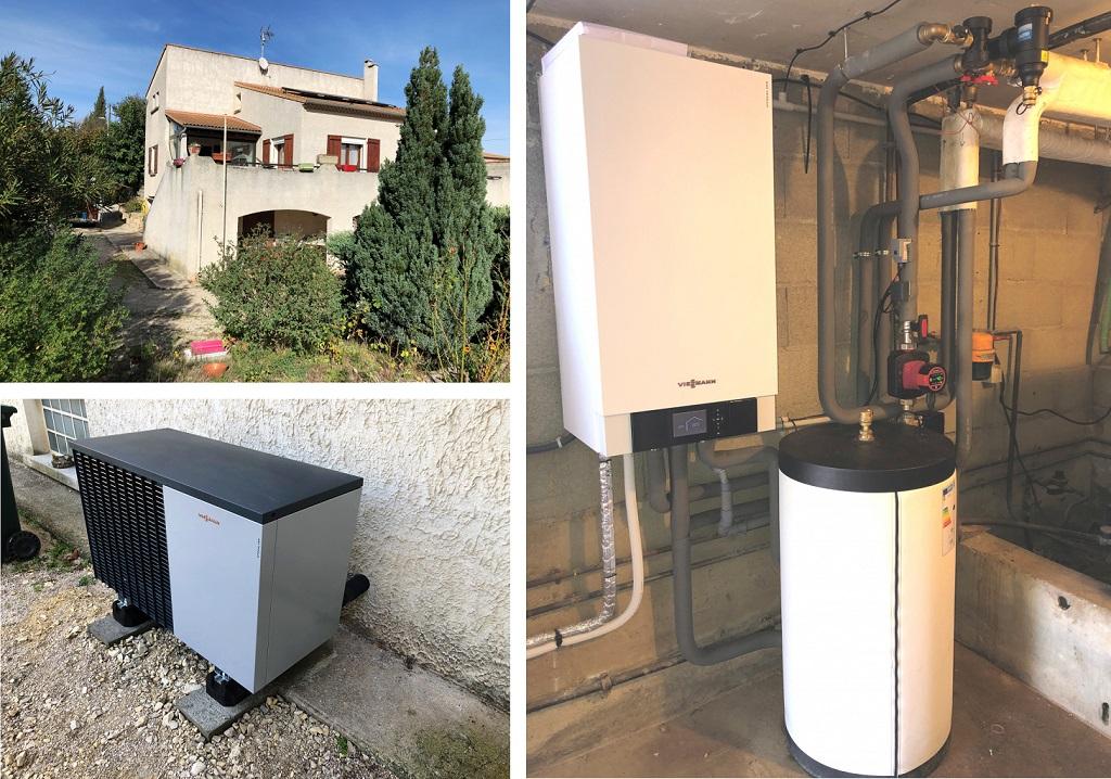 Remplacement d'une chaudière par une pompe à chaleur silencieuse- installateur Proactif Viessmann Qualipac