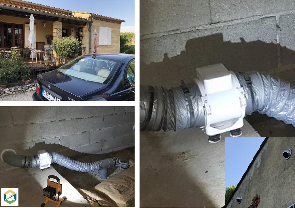 Installion d'une VMC pour une cuisine et salle de bains