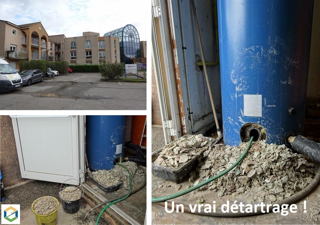 Détatrage ballon de production d'eau chaude sanitaire