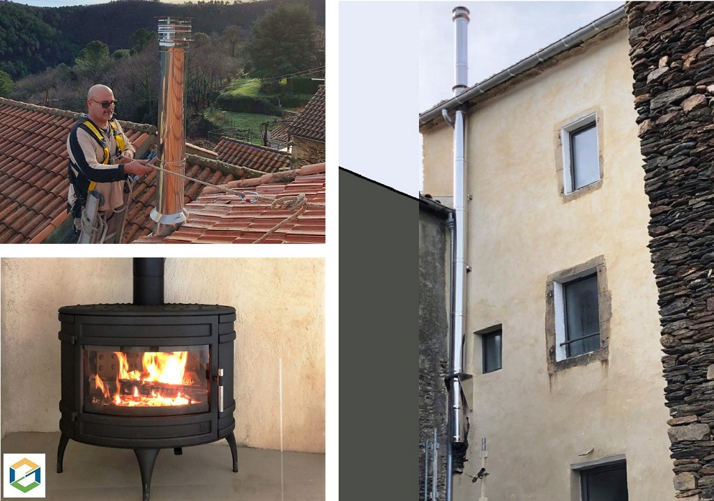 Installation poêle bois Invicta - Entreprise qualibois RGE