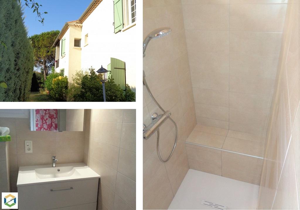 Réfection compète d'uns salle de bains avec douche à l'italienne