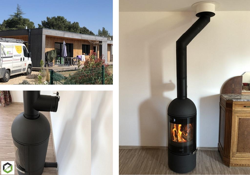 Invicta shop du Gard et Vaucluse - Installation poêle bois Deville Aster
