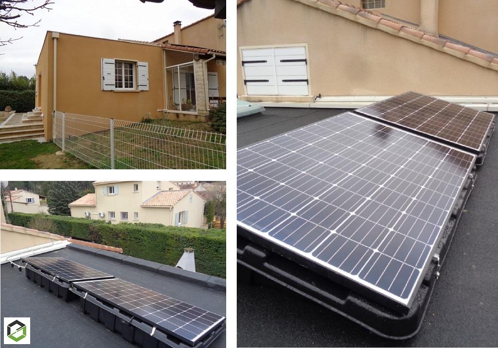 Ajout de 2 panneaux photovoltaique sur installation en autoconsommation