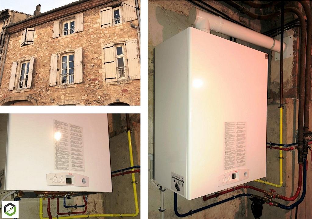 Remplacement acienne chaudière gaz par une chaudière à condensation haute performance énergétique gaz