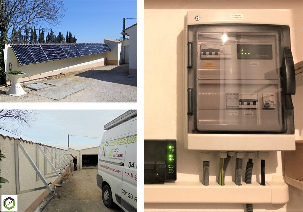 Production d'électricité écologique par photovoltaïque en autoconsommation sans revente du surplus