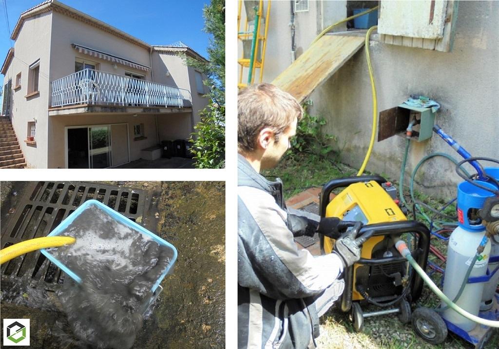 Décrassage et désembouage installation chauffage central avec remplacement chaudière