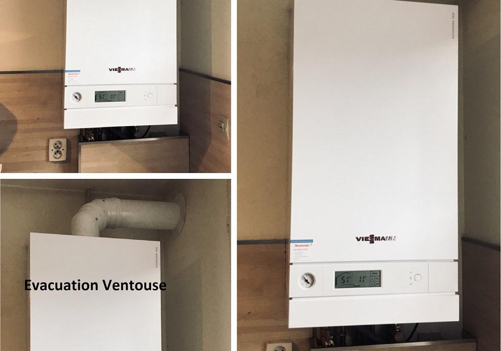 Remplacement d'une chaudière gaz par une chaudière VIESSANN VITODENS 100-W