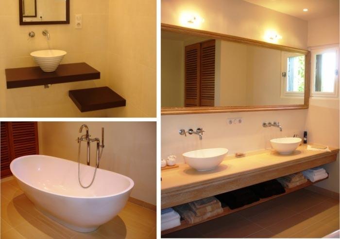 Plombier installateur rénovation complète d'une salle de bain à Fouesnant 29 Finistère-Finistère (29)