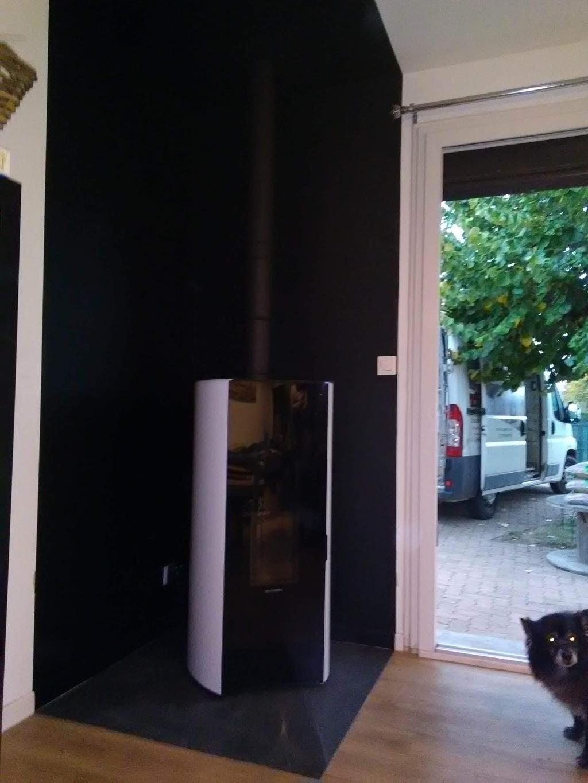 Poêle à granulés de bois (pellets)  Palazzetti en Chauffage principal  à Chanceaux Sur Choisille  37 indre et loire