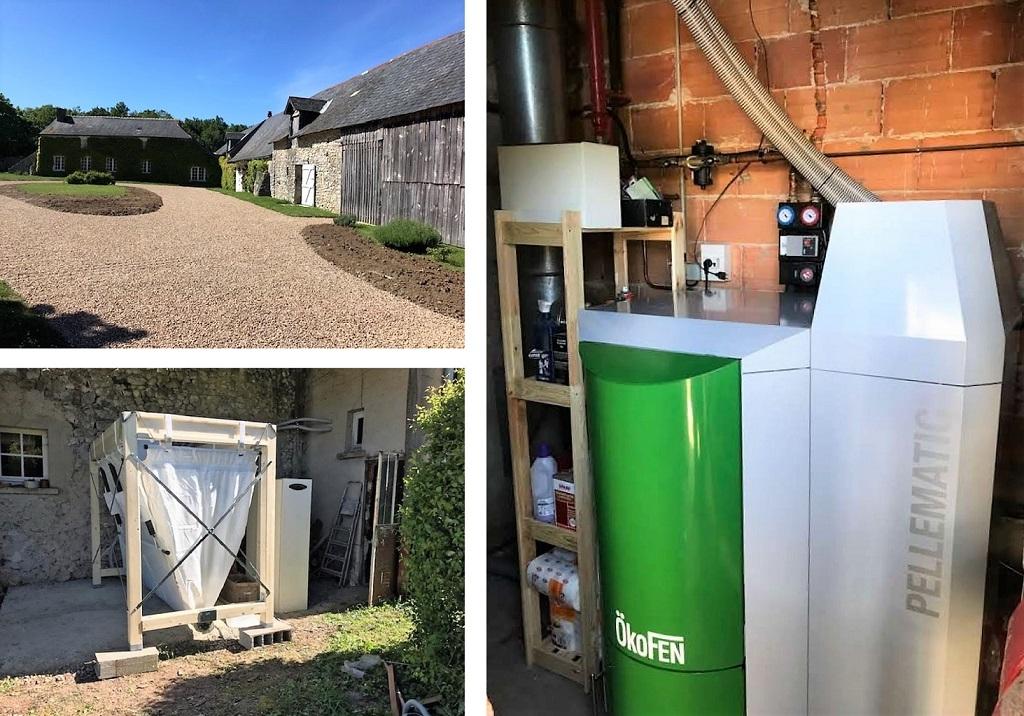 Chaudière à granulés de bois pellets Okofen aspiration 25 Kw  ALUBLE   37 Indre et Loire