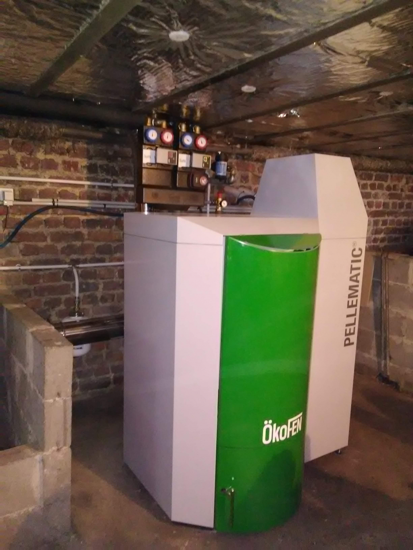 Chaudière à granulés de bois pellets Okofen aspiration 25 Kw  Dissay  Sur Coursillon   72 Sarthe