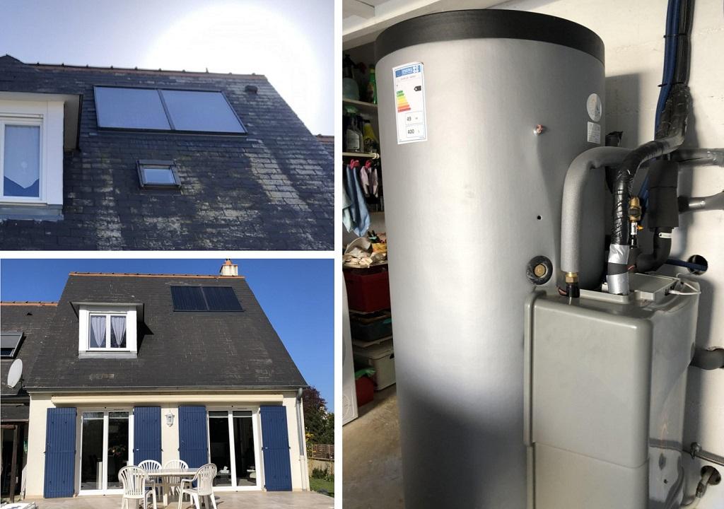 Chauffage solaire (SSC ) Solisart  Montbazon   37 Indre et Loire