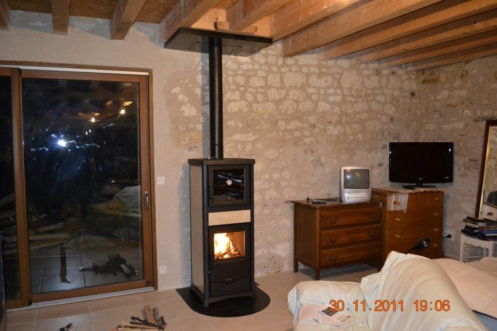 Poêle bois bûches à Saint Senoch - 37 Indre et Loire