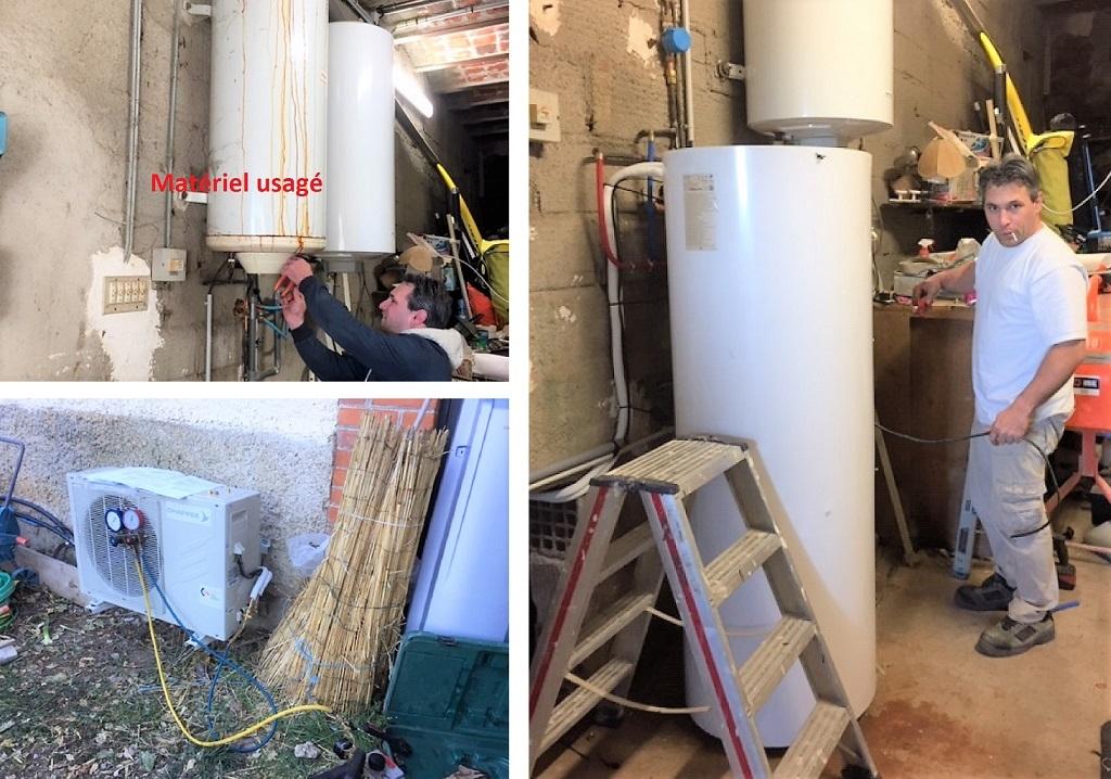 Installation d'un Chauffe-eau thermodynamique bi-bloc CHAPPEE -Hérault (34)