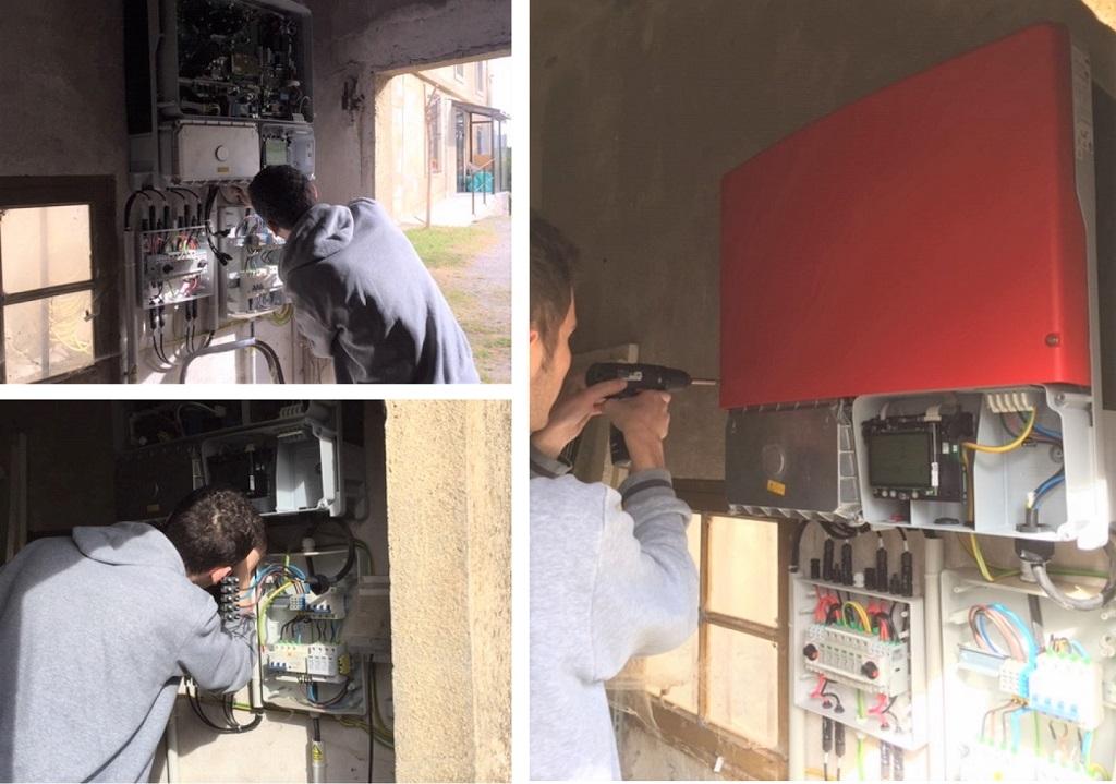 Remplacement d'un onduleur d'injection réseau Aléo (SMA) STP8000TL-10  sous garantie.-Hérault (34)