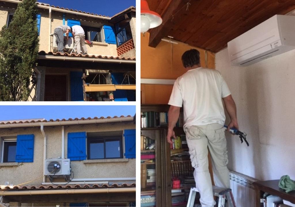 Installation d'un ensemble de climatisation MITSUBISHI-Hérault (34)