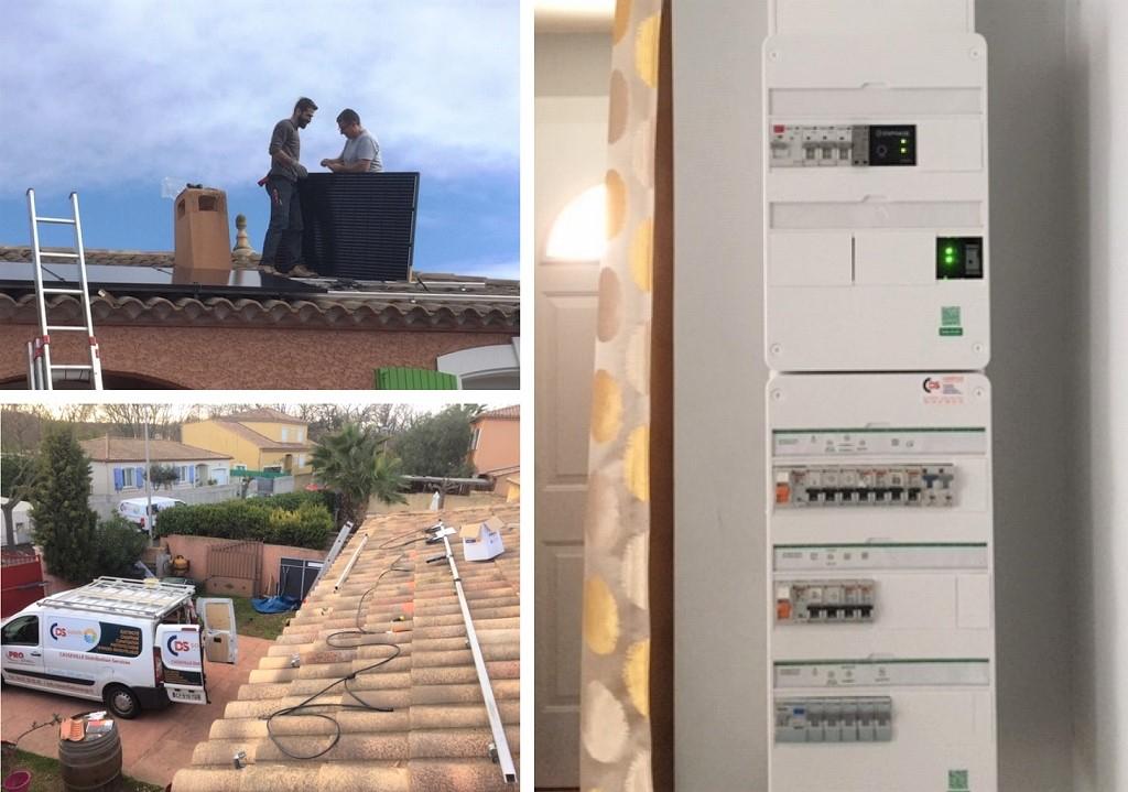 Installation Photovoltaïque en Autoconsommation moduyles AEG 300Wc et Système Enphase-Hérault (34)