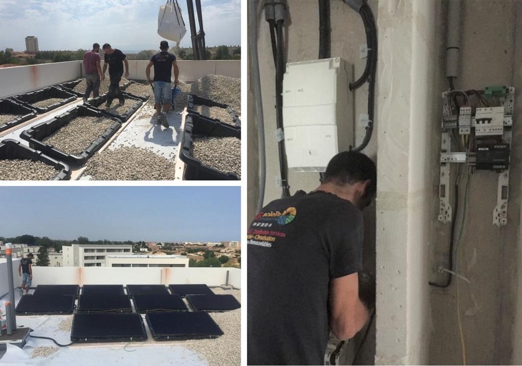 Installation Photovoltaïque en Autoconsommation modules DUALSUN et Système Enphase IQ7+ SERIGNAN-Hérault (34)