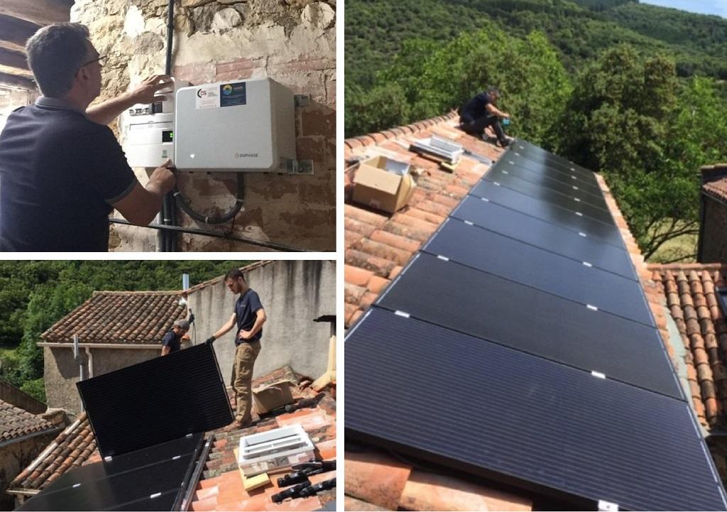 Installation Photovoltaïque en Autoconsommation modules AEG 300Wc et Système Enphase Avec Stockage-Hérault (34)