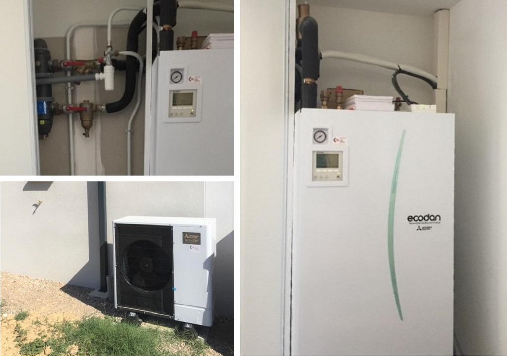 Installation d'une Pompe à Chaleur PAC Air/Eau + ECS  Mitsubishi-Hérault (34)