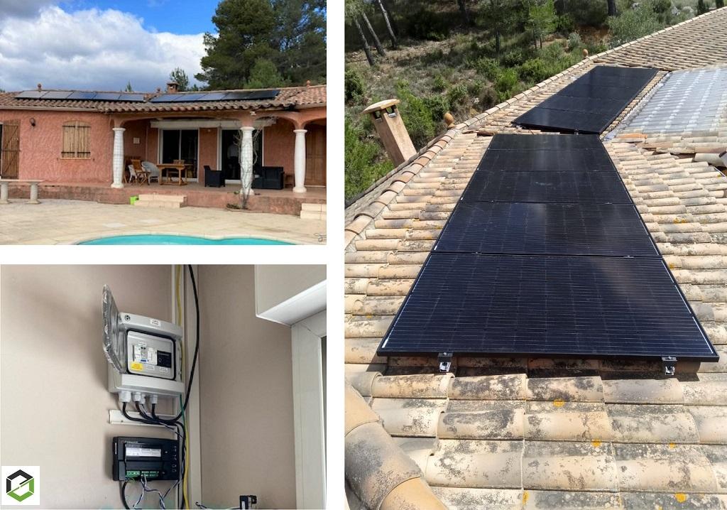 Installation Photovoltaïque en Autoconsommation 3kWc - Module Dualsun - Système Enphase