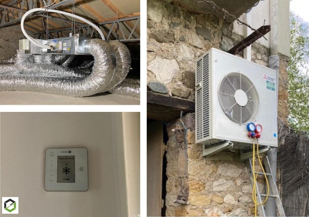 RGE QualiPAC - Installation d'une clim réversible gainable (Pompe à Chaleur PAC Air/Air) avec Airzone