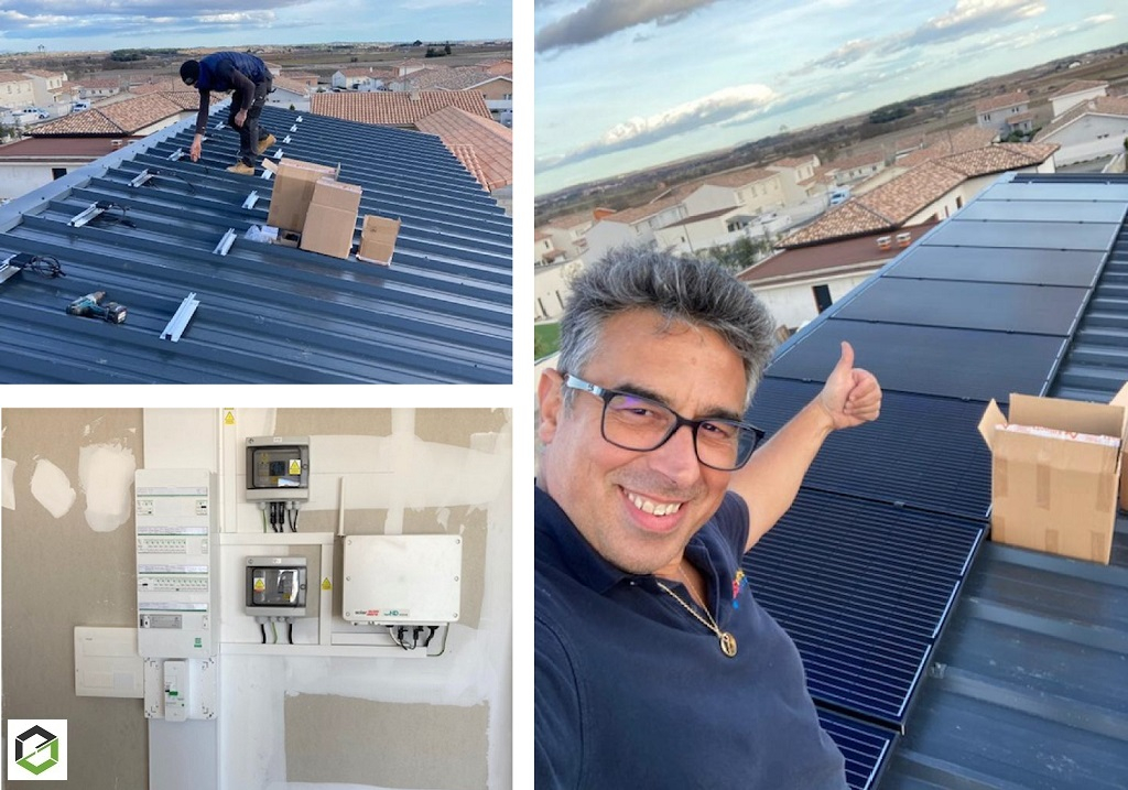 RGE QualiPV - Installation Photovoltaïque en Autoconsommation 6kWc - modules Dualsun 300Wc et Système SolarEdge