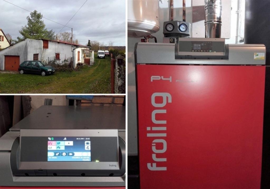 Installation d'une chaudière à granulés Froling à Marcilly sur Eure 27 Eure. Artisan RGE qualibois