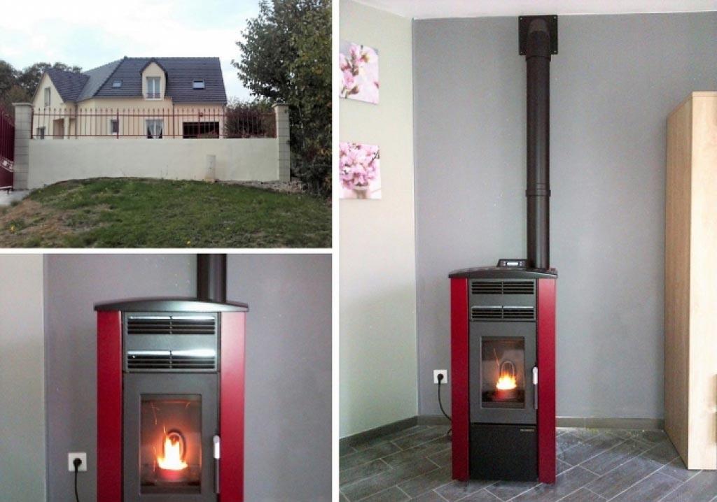 Installation d'un poêle à granulés Palazetti à Villemeux 28 eure et loir. Artisan RGE-Eure et Loir (28)