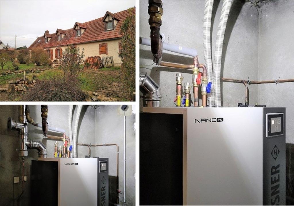 Installation d'une chaudière Granulés Hargassner à La bourdinière saint loup 28 Artisan RGE