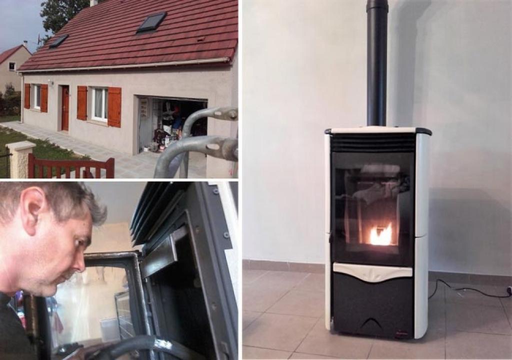 Entretien poêle à granulés la Nordica Extra flamme à Senonches 28 Eure et Loir. Artisan RGE Qualibois-Eure et Loir (28)