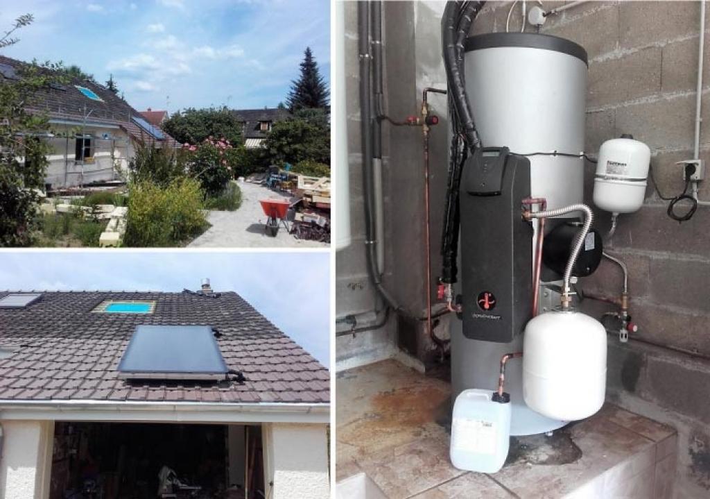 Installation d'un chauffe eau solaire (CESI) à Gazeran 78 Yvelines. RGE Qualisol