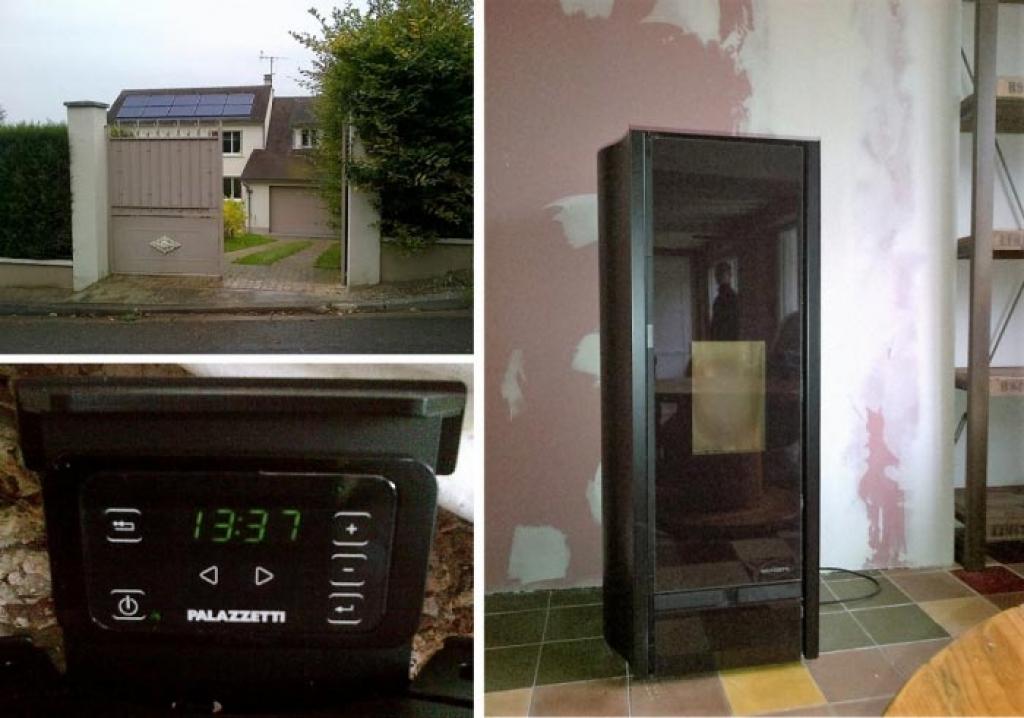 Pose d'un poêle à granulés de bois pellets Palazzetti à Orgeval 78 Yvelines