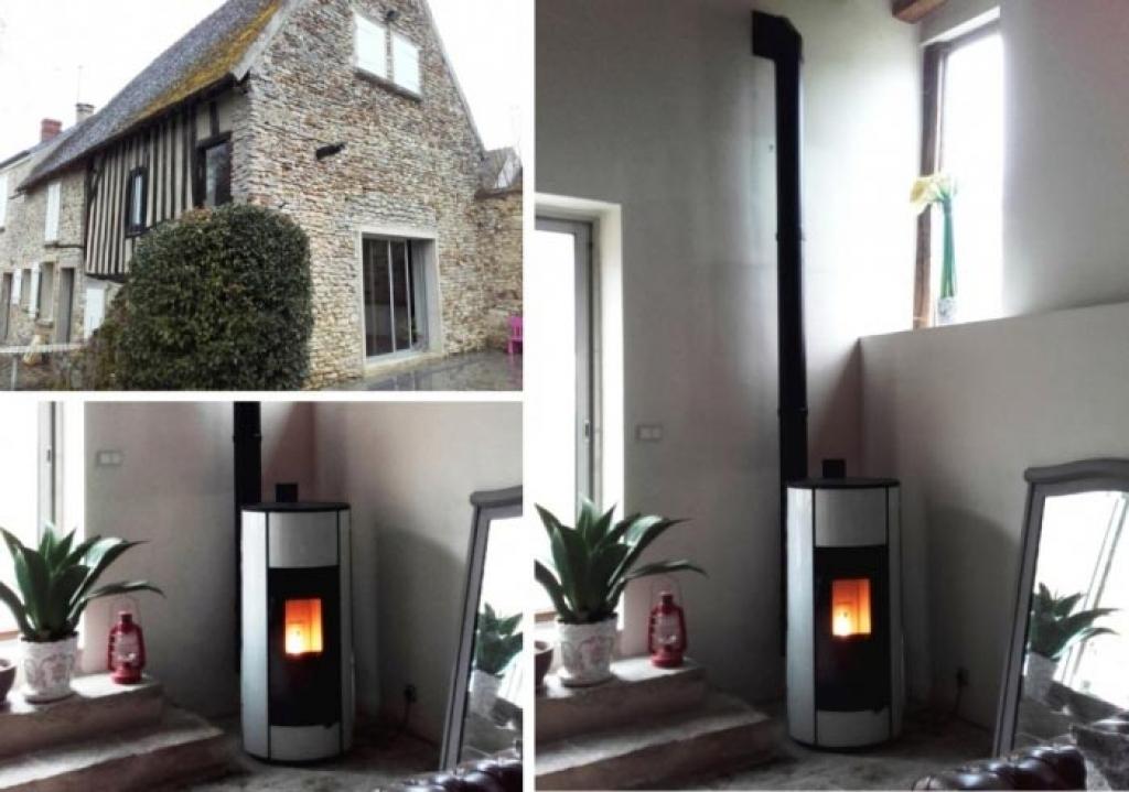 Pose d'un poêle à granulés de bois pellets Palazetti à Gressey 78 Yvelines-Yvelines (78)