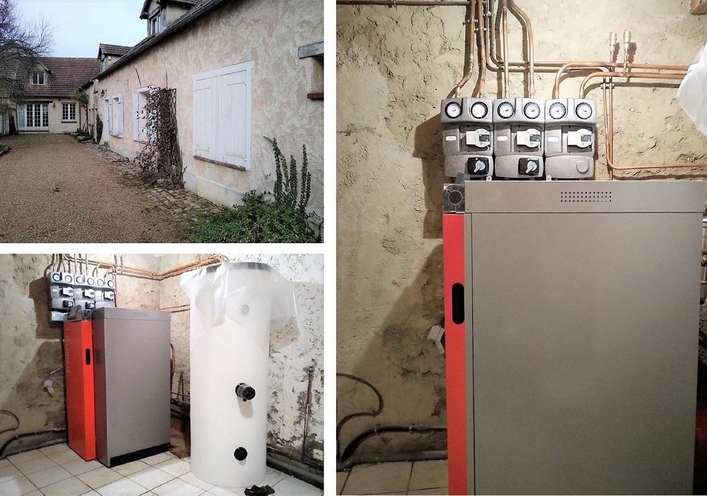 Pose d'une chaudière à granulés dans le 78 en Eure et Loir-Yvelines (78)